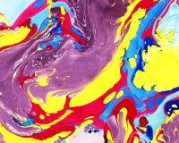 Abstracte marmerings kleurrijke achtergrond Stock Afbeelding