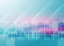 Abstracte medische achtergrond met hartslaglijn vector illustratie