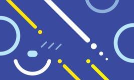 Abstracte Meetkunde, een historisch Moderne Stijl, blauwe achtergrond, vlak behang royalty-vrije illustratie
