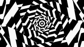 Abstracte Meetkunde met visuele illusie van beweging stock illustratie