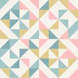 Abstracte meetkunde in retro kleuren, geopatroon van diamantvormen royalty-vrije stock afbeelding