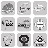 Abstracte mega de inzamelingssamenvatting van Logo Design Logo Royalty-vrije Stock Foto