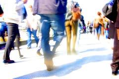 Abstracte menigte van mensen Stock Foto