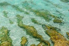 Abstracte mening als achtergrond van het oceaan azuurblauwe water stock foto's
