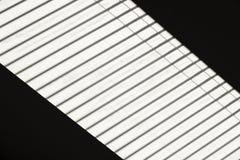 Abstracte mening van dakvenster met blind Stock Fotografie