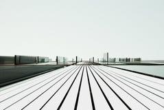 Abstracte mening van een metaalgebouw Royalty-vrije Stock Afbeelding