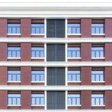 Abstracte mening van gebouwen stock afbeelding