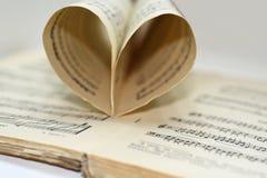 Abstracte mening van muziek Stock Foto