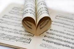 Abstracte mening van muziek Royalty-vrije Stock Foto