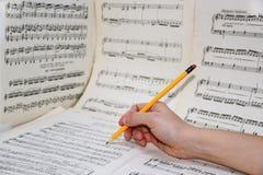 Abstracte mening van muziek Stock Foto's