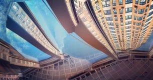 Abstracte Meningen van een Modern Flatgebouw Stock Afbeeldingen