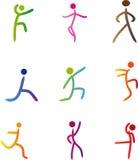 Abstracte menselijke illustratie Stock Afbeelding
