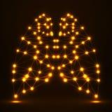 Abstracte menselijke long, netwerkverbindingen van lijnen en punten Stock Foto