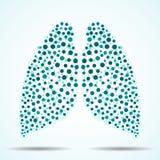 Abstracte menselijke longen van kleurrijke cirkels Vector Royalty-vrije Stock Foto's
