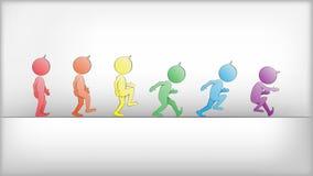 Abstracte Mensen in Bewegingsvector Royalty-vrije Stock Foto