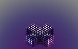 Abstracte metaal purpere doos Als achtergrond Stock Foto's