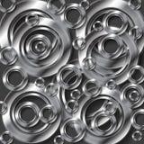 Abstracte metaal zilveren vectorachtergrond Royalty-vrije Stock Foto