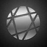 Abstracte metaalachtergrond. Stock Afbeelding