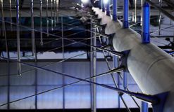 Abstracte metaalbouw. Royalty-vrije Stock Foto's