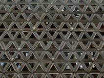 Abstracte metaalbouw in de vorm van een ornament stock fotografie