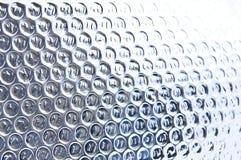 Abstracte metaaltextuur met cirkels Stock Foto