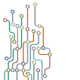 Abstracte metrokaart stock illustratie