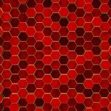 Abstracte minimalistic achtergrond met rode zeshoeken stock afbeelding