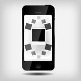 Abstracte mobiele telefoon vectorillustratie Stock Afbeeldingen
