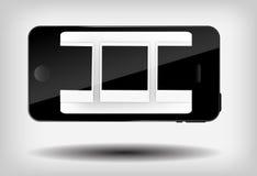 Abstracte mobiele telefoon vectorillustratie Stock Afbeelding