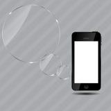 Abstracte mobiele telefoon vectorillustratie Stock Foto