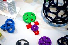 Abstracte modellen die door 3d printerclose-up worden gedrukt Royalty-vrije Stock Afbeelding