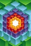 Abstracte moderne achtergrond met kubus stock illustratie