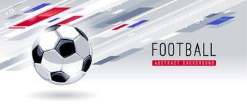 Abstracte Moderne Achtergrond met Voetbalbal royalty-vrije stock foto's