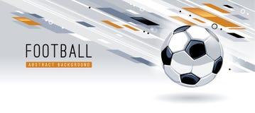 Abstracte Moderne Achtergrond met Voetbalbal royalty-vrije stock fotografie