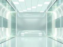 Abstracte moderne architectuurachtergrond het 3d teruggeven Stock Afbeelding