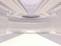 Abstracte moderne architectuurachtergrond het 3d teruggeven Stock Afbeeldingen