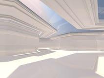 Abstracte moderne architectuurachtergrond het 3d teruggeven Royalty-vrije Stock Afbeeldingen