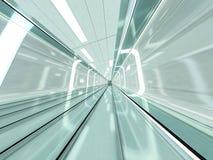 Abstracte moderne architectuurachtergrond het 3d teruggeven Stock Fotografie