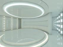 Abstracte moderne architectuurachtergrond het 3d teruggeven Stock Foto