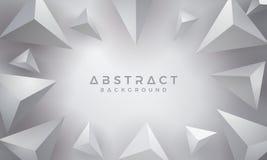 Abstracte, Moderne, 3D Driehoek Gray Background Eps10 vectorachtergrond royalty-vrije illustratie