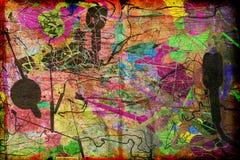 Abstracte Moderne Geweven Kunst royalty-vrije illustratie