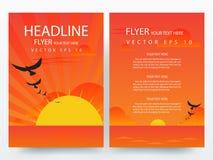 Abstracte moderne het ontwerpmalplaatjes van de vliegersbrochure Stock Foto's