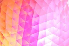 Abstracte moderne roze en oranje geometrische patroonachtergrond Stock Afbeelding