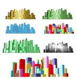 Abstracte moderne stad Royalty-vrije Stock Afbeeldingen