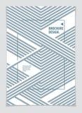 Abstracte Moderne Vector minimale malplaatjevlieger Vector geometrische patroon abstracte achtergrond Ontwerpsjabloon voor boekje stock illustratie