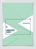Abstracte Moderne Vector minimale malplaatjevlieger Vector geometrische patroon abstracte achtergrond Ontwerpsjabloon voor boekje royalty-vrije illustratie