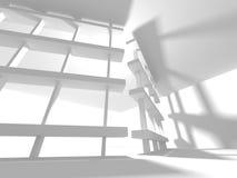 Abstracte Moderne Witte Architectuurachtergrond Stock Afbeeldingen