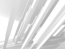 Abstracte Moderne Witte Architectuurachtergrond Stock Fotografie