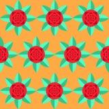 Abstracte Modieuze Rose Background royalty-vrije illustratie