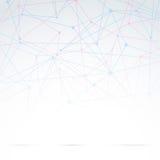 Abstracte moleculaire abstractie als achtergrond Stock Afbeelding